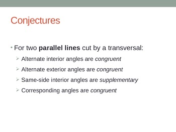 Parallel Lines and Transversals PPT