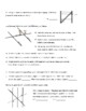Parallel Lines and Transversals Practice 1