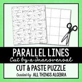Parallel Lines, Transversals, and Angles - Cut and Paste Puzzle