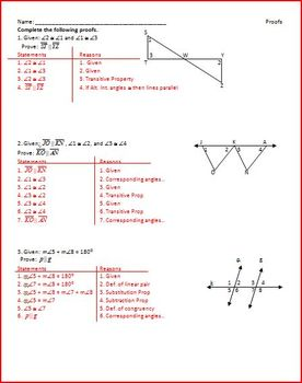 Parallel Lines and Transversals (WS)