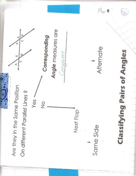 Parallel Lines and Transversals- classifying angles