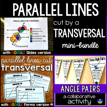 Parallel Lines Cut by a Transversal mini bundle