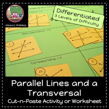 Parallel Lines and a Transversal Sort - Differentated