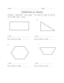 Geometry - Parallel Lines in Polygons