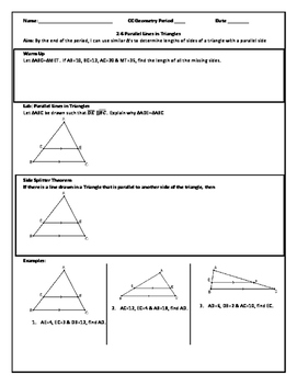 Parallel Lines in Triangles (PDF)