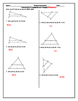 Parallel Lines in Triangles (Word)