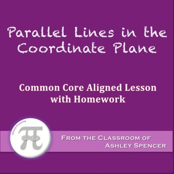 Parallel Lines in the Coordinate Plane (Lesson with Homework)