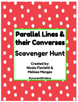 Parallel Lines & their Converses Scavenger Hunt