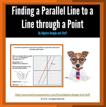 Parallel Lines using Point Slope Scaffold Notes