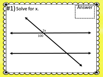 Parallel Lines with Equations TASK CARDS for GOOGLE SLIDES
