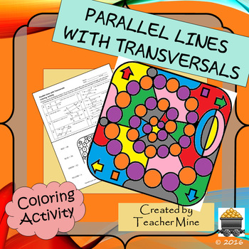 Parallel Lines with Transversals Coloring Activity