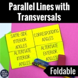 Parallel Lines with Transversals Foldable