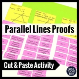 Parallel Lines with Transversals Proofs Cut and Paste Activity