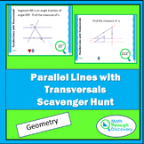 Geometry - Parallel Lines with Transversals Scavenger Hunt