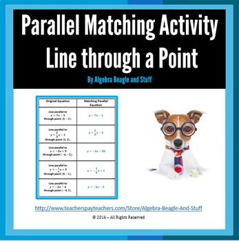 Parallel Matching Activity - Line Through a Point