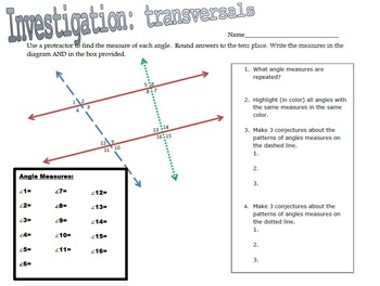 Parallel & Perpedicular Lines VALUE PACK