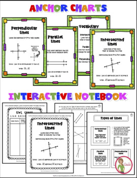 Parallel / Perpendicular / Intersecting Lines - Grab & Go Packet - Geometry