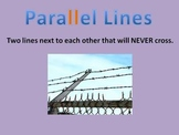 Parallel, Perpendicular & Intersecting Lines Power Point