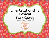 Parallel, Perpendicular, & Intersecting Lines Review Task Cards