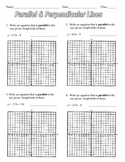 Parallel & Perpendicular Lines Assignment