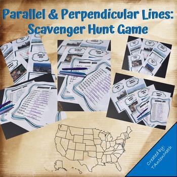Parallel & Perpendicular Lines: Scavenger Hunt Game
