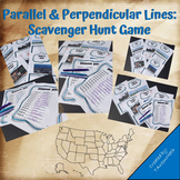 Parallel & Perpendicular Lines: Scavenger Hunt Game