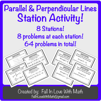 Parallel & Perpendicular Lines Station Activity!