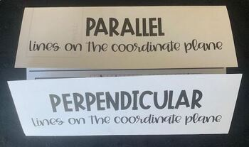 Parallel & Perpendicular Lines on the Coodinate Plane (Foldable)