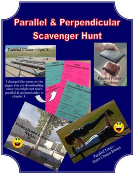 Parallel & Perpendicular Scavenger Hunt