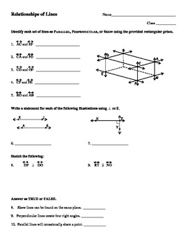 Perpendicular Lines Worksheet ...