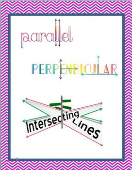 Parallel, Perpendicular, and Intersecting Line Poster
