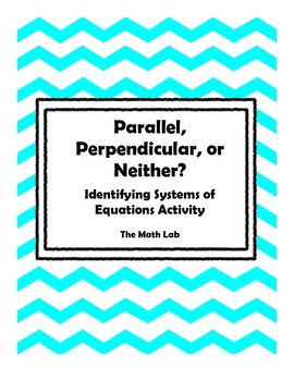 Parallel, Perpendicular, or Neither? Algebra Activity