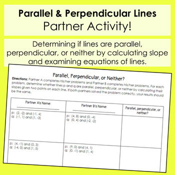 Parallel And Perpendicular Lines Slope Math The Students Look At The together with Parallel Perpendicular Worksheet Parallel Perpendicular Intersecting also  besides Geometry  IChapter 3 Day  1 also  further point slope form worksheet with answers – karenlynndixon info also  as well  furthermore slopes of parallel and perpendicular lines worksheet answers in addition U6 – W4 Parallel and Perpendicular Lines Worksheet 1  Graph each additionally  furthermore Parallel and Perpendicular Lines additionally  in addition  additionally Geometry Worksheets   Parallel and Perpendicular Lines Worksheets as well Parallel  Perpendicular or Neither  From Points  Riddle by Secondary. on parallel perpendicular or neither worksheet