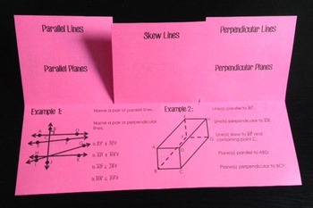 Parallel, Skew, Perpendicular Lines and Planes (Geometry Foldable)