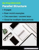 Parallel Structure: Lesson + 2 Exercises