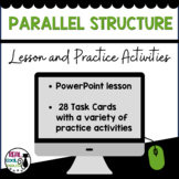 Parallel Structure PowerPoint Lesson and Task Cards