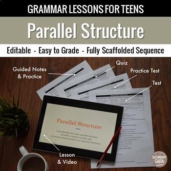 Parallel Structure Unit: Grammar Lesson, Quiz, Test, & More