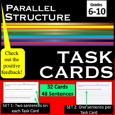 Parallel Structure Task Cards (and Worksheets)