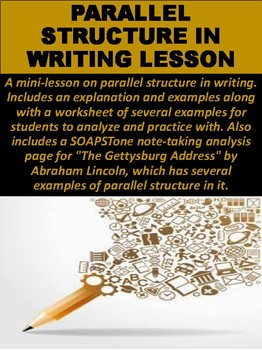 Parallel Structure in Writing Lesson
