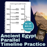 Ancient Egypt Parallel Timeline Skill Practice