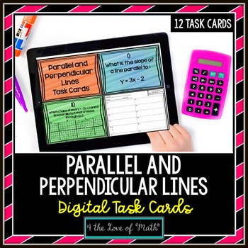 Parallel and Perpendicular Lines: Digital Task Cards