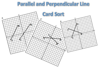 Parallel and Perpendicular Line Card Sort