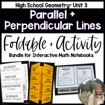 Parallel and Perpendicular Lines (Geometry Foldable Bundle #2)