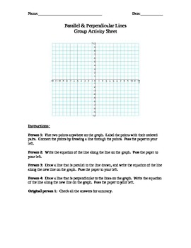 Parallel and Perpendicular Lines Activity