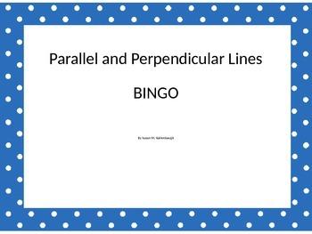 Parallel and Perpendicular Lines BINGO