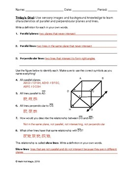 Parallel and Perpendicular Lines Bundle through Discovery