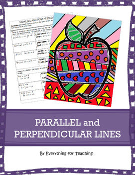 Parallel and Perpendicular Lines | Worksheet | Education.com