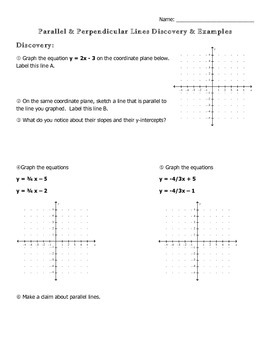 Parallel and Perpendicular Lines Discovery Lesson
