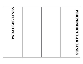 Parallel and Perpendicular Lines Foldable - Editable