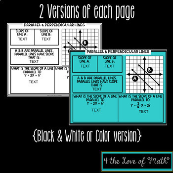 Parallel and Perpendicular Lines For Google Drive™